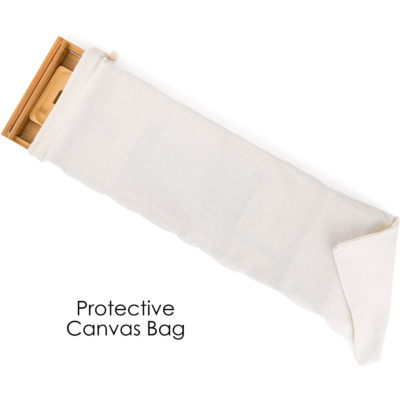 The bath caddy tray comes with a canvas bag for protection as well as easy storage.