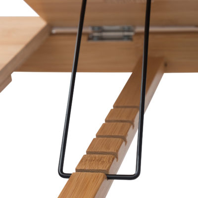 The ridges allow you to adjust your bed computer table to a comfortable height,