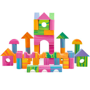 Foam Building Block Set for Kids – Multi-Colored, Non-Toxic & BPA Free – 60 Pieces