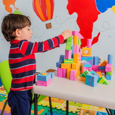 Playing with the foam building blocks toys helps children build skills such as spatial awareness.