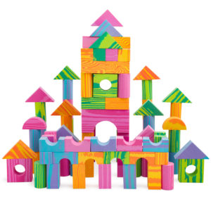 Foam Building Block Set for Kids – Multi-Colored, Non-Toxic & BPA Free – 140 Pieces