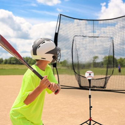 The baseball net and tee are perfect for children to hone their skills.