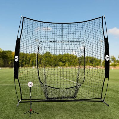 Here is what it will look like to set up your baseball batting net outdoors.