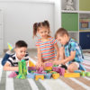Children can develop their social skills while playing together with these foam blocks.