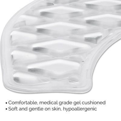 Our gel toilet seat cushion is made of comfortable medical grade gel and is completely hypoallergenic.