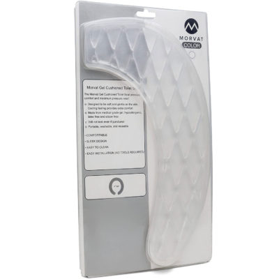 Here is a view of the Morvat gel toilet seat cover in its packaging.