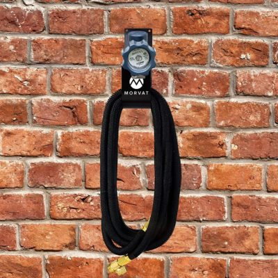 This water hose hook is the perfect way to neaten up every yard and garden.