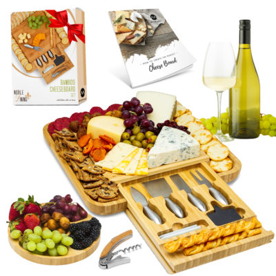 The Morvat cheese board with cutlery set comes with everything for a stunning cheese plate.