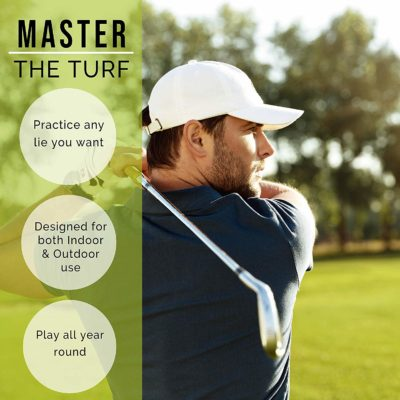 This golf mat is great for indoor or outdoor use, winter, spring, summer, or fall.