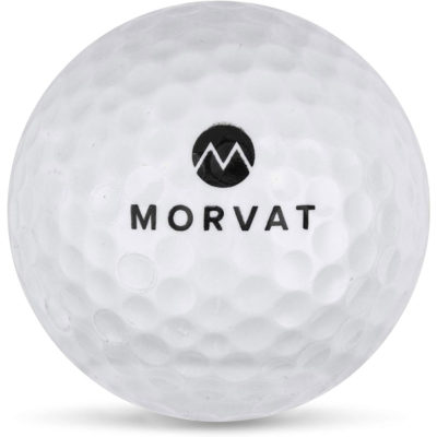This is a front view of the Morvat golf ball.