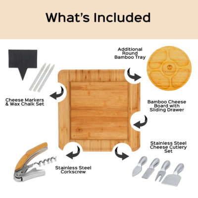 The Morvat cheese board includes many extras for the perfect party.