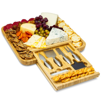 Store all of your cheese essentials in the pull out drawer for easy access.