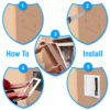 The plastic access panel is simple to install with five easy steps.