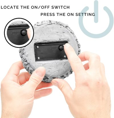 There is an on/off switch on the in ground landscape lights to easily switch modes.