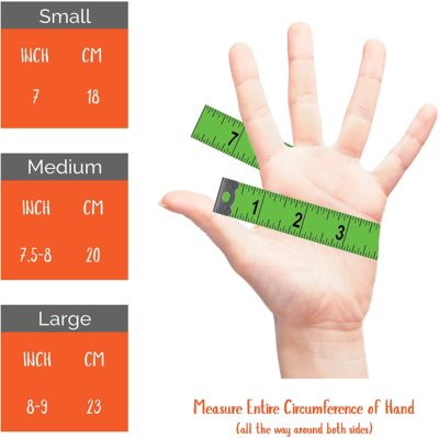 Measurements for Morvat's heated motorcycle gloves. These will be your best heated gloves.