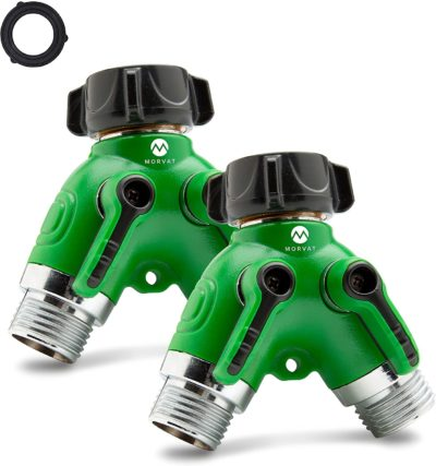 Enjoy two amazing y hose connectors to maximize your gardening potential.