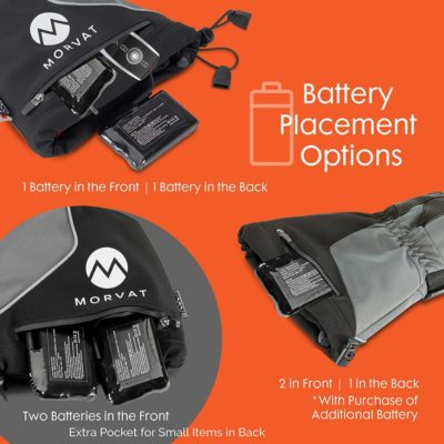Morvat's battery heated gloves for men and women. These will be your best heated gloves.