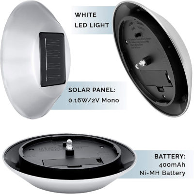 The solar landscape lights have LED bulbs for strong and long lasting lights.