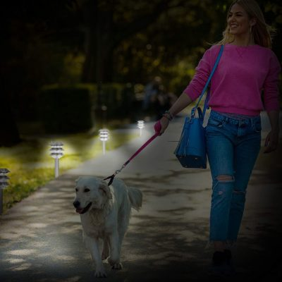 Light up your walkway with these silver solar garden lights and make a midnight walk safer.