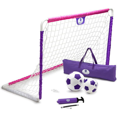 The Morvat toddler soccer net comes with everything you need for hours of active fun.