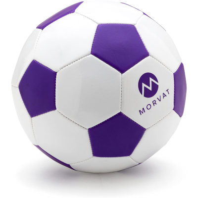 Soccer balls included with the toddler soccer goal set by Morvat.