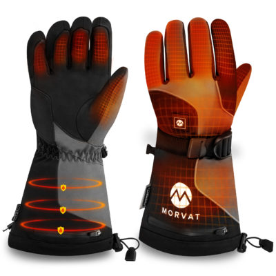 Morvat's rechargeable electric gloves for men and women. These will be your best heated gloves.