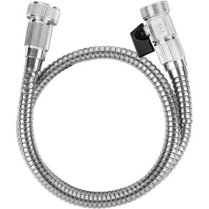 Stainless Steel Hose With Shut Off Valve, Short Connector Hose, 3 Foot