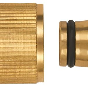 Brass/ Nickel Plated Brass Garden Hose Source Socket Quick Connector Water Hose Fittings – Sets of 2/6